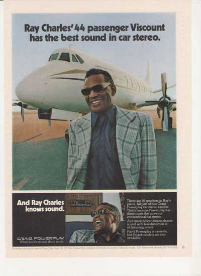 ray charles standing by a plane