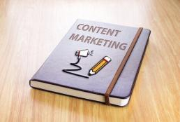 book with content marketing on the cover