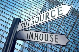 street sign listing outsource and in house marketing efforts