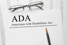 sheet of paper saying ADA Americans with Disabilities Act