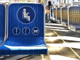 a handicap bus seat
